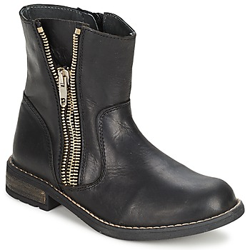 Chaussures Fille Boots Little Mary ROCKNROL Noir