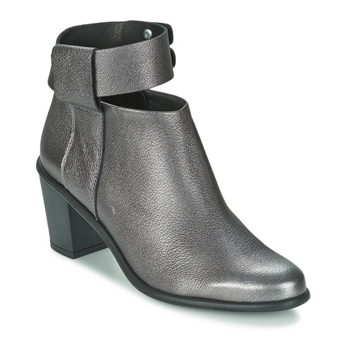 Chaussures Femme Bottines Miista ODELE Pewter lever