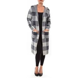 Vêtements Femme Gilets / Cardigans De Fil En Aiguille Cardigan long K100 gris Gris