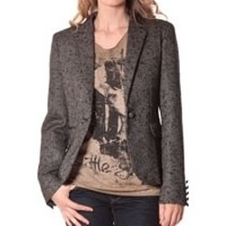 Vêtements Femme Vestes de costume Rich & Royal Rich&Royal Blazer OVER Chiné Noir 13q801/999 Noir