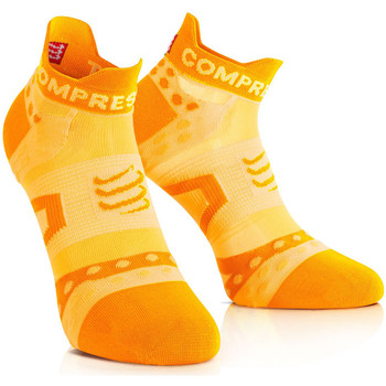 Accessoires Chaussettes Compressport Racing Socks Ultralight Run Low Orange