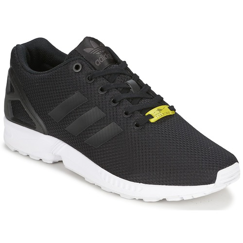 57ab8c827518f Chaussures Baskets basses adidas Originals ZX FLUX Noir   Blanc