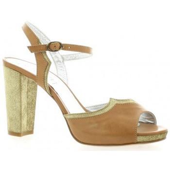 Chaussures Femme Sandales et Nu-pieds Ambiance Nu pieds cuir Cognac