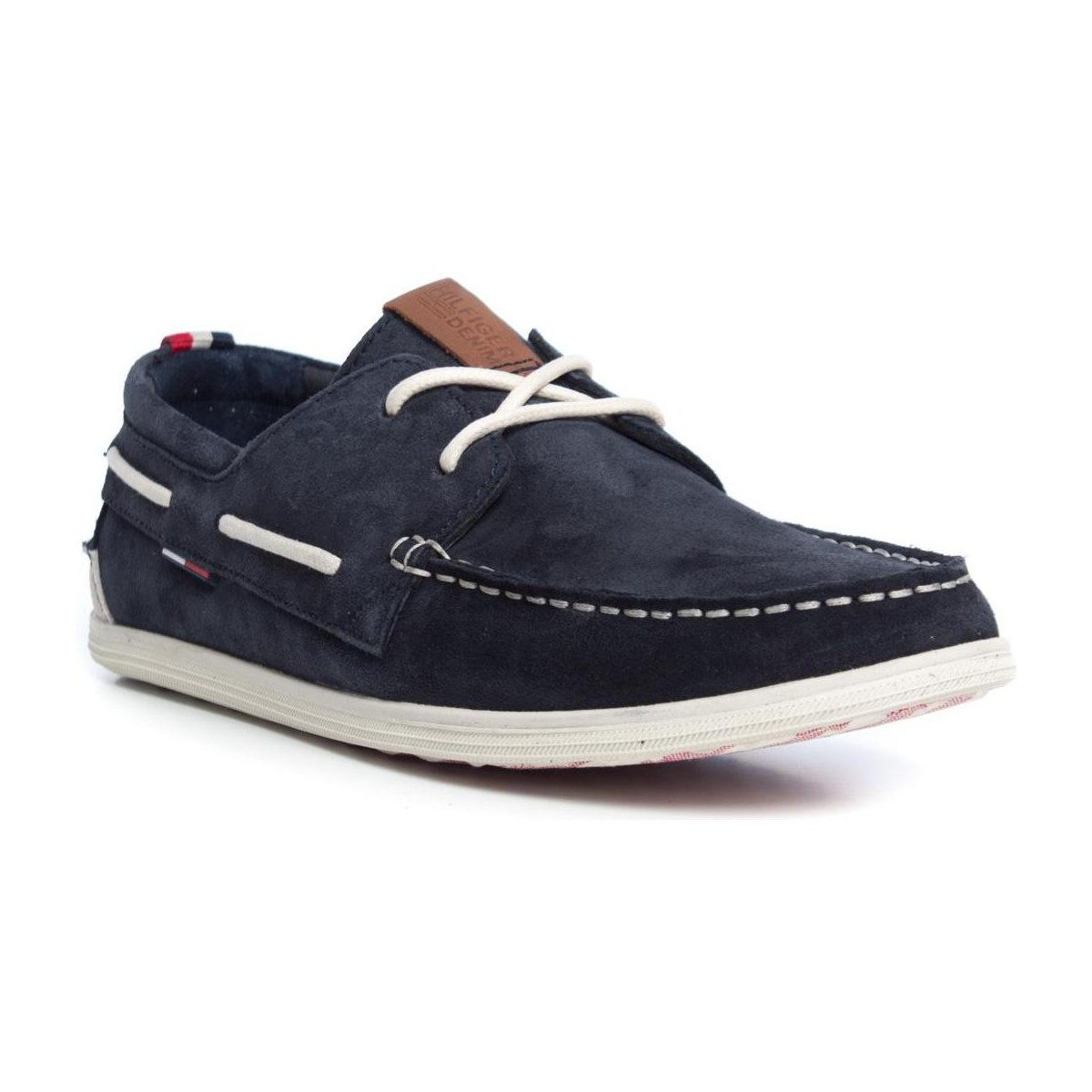 tommy hilfiger m2385iles 1b blue chaussures chaussures bateau homme 64 68. Black Bedroom Furniture Sets. Home Design Ideas