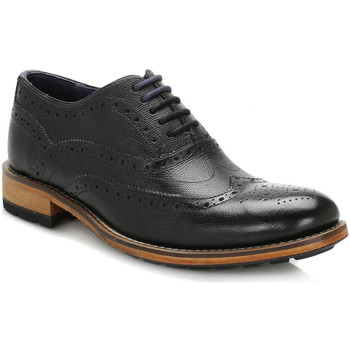 Chaussures Homme Richelieu Ted Baker Mens Black Guri 8 Leather Brogue Shoes Ted Baker_199
