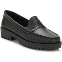 Chaussures Femme Mocassins Tower Womens Black Leather Loafers Tower_79