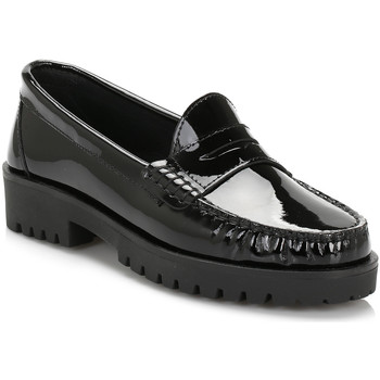 Chaussures Femme Mocassins Tower Womens Black Patent Leather Loafers Tower_80