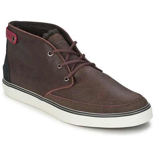 Chaussures Homme Baskets montantes Lacoste CLAVEL 17 Marron