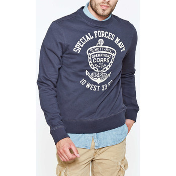 Vêtements Homme Sweats Schott Sweat Shirt  Sw075j Marine Homme Marine
