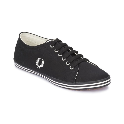 Chaussures Baskets basses Fred Perry KINGSTON TWILL Black / Porcelain