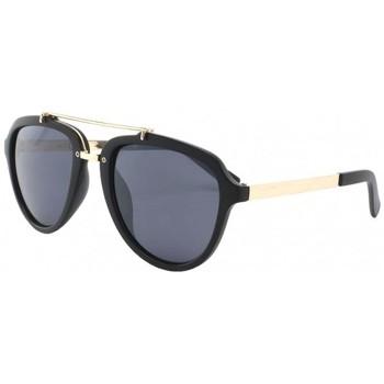 Montres & Bijoux Homme Lunettes de soleil Eye Wear Lunettes de soleil Aviateur Tendance Noir Mat Ponza Noir