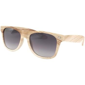 Montres & Bijoux Homme Lunettes de soleil Eye Wear Lunettes de soleil Bois Beige Caly Beige
