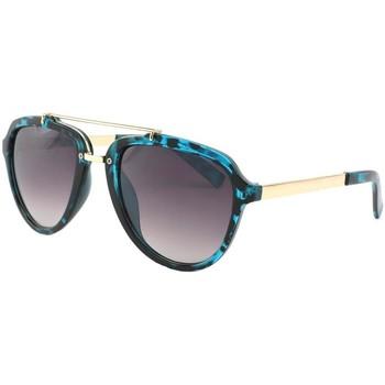 Montres & Bijoux Homme Lunettes de soleil Eye Wear Lunettes de soleil Aviateur Bleu Ponza Bleu