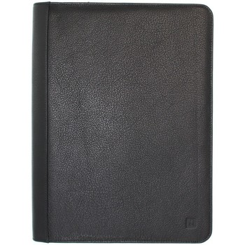 Sacs Porte-Documents / Serviettes Hexagona Conferencier  en cuir Ref 33928 Noir 27*36*4 Noir