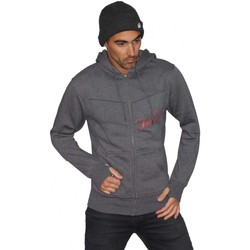 Vêtements Homme Sweats Vestal Sweat capuche cintré Hoodie  Destroyer zipper Superbe coupe ! Gris