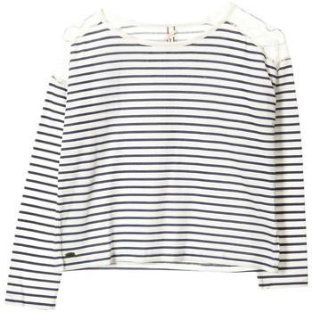 Vêtements Fille T-shirts manches longues Kaporal T-Shirt fille manches longues  Katri Off White Blanc cassé