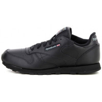 Chaussures Garçon Baskets basses Reebok Sport Classic Leather Junior - Ref. 50149 Noir