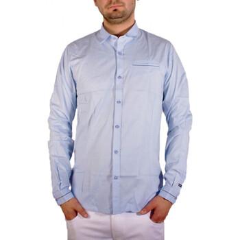 Vêtements Homme Chemises manches longues Joe Retro CHEMISE  SEB BLEU Bleu
