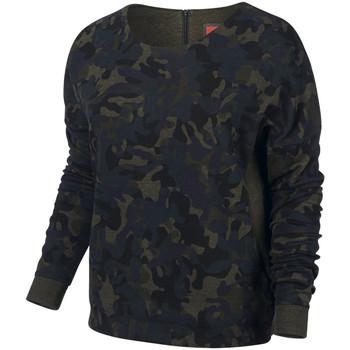 Vêtements Femme Sweats Nike Sweat  Tech Fleece Camo Crew - Ref. 683796-325 Kaki
