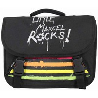 Sacs Enfant Cartables Little Marcel Cartable 35cm Le Petit Marcel RABBIT ROCK Noir RABBIT ROCK Multicolore