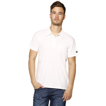 Vêtements Homme Polos manches courtes Biaggio Polo Homme - LOANEL - BLANC Blanc