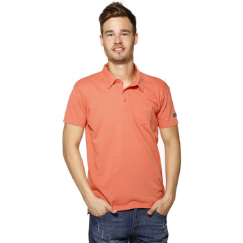 Vêtements Homme Polos manches courtes Biaggio Polo Homme - LOANEL - CORAIL Orange