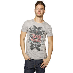T-shirts manches courtes Biaggio T-shirt Homme - LEABEL - GREY MEL