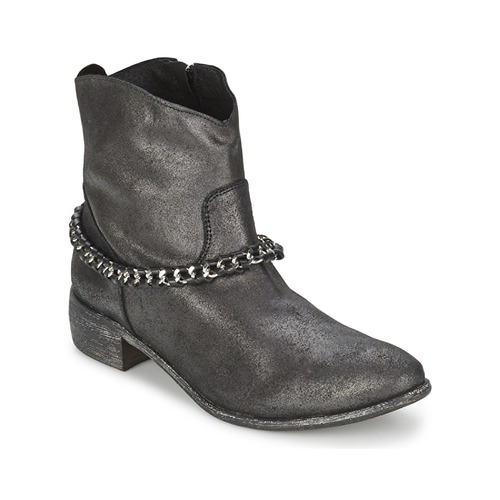 Bottines / Boots Meline VUTIO Noir métallisé 350x350