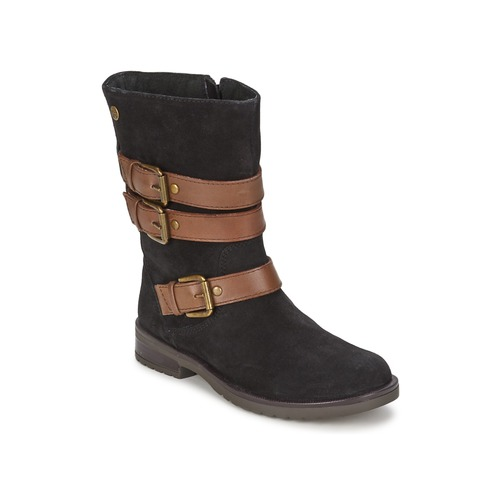 Chaussures Fille Bottes ville Gioseppo HALIFAX Noir