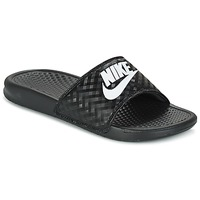 Chaussures Femme Mules Nike BENASSI JUST DO IT W Noir / Blanc