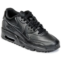 Chaussures Enfant Baskets basses Nike AIR MAX 90 LEATHER GRADE SCHOOL Noir
