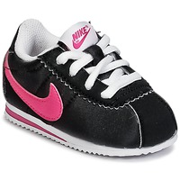 Chaussures Fille Baskets basses Nike CORTEZ NYLON TODDLER Noir / Rose