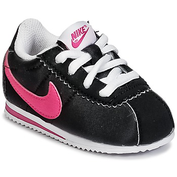 Chaussures Fille Baskets basses Nike CORTEZ NYLON TODDLER Noir / Rose