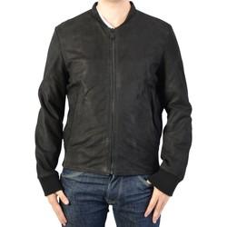 Vêtements Homme Blousons Redskins Bomber en Cuir Homme Pulp Punch Black Noir