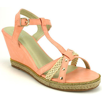 Chaussures Femme Espadrilles Cendriyon Compensées Corail Chaussures Femme, Corail