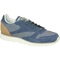Chaussures Homme Baskets basses Reebok Sport CL Leather Fleck AQ9722 Bleu