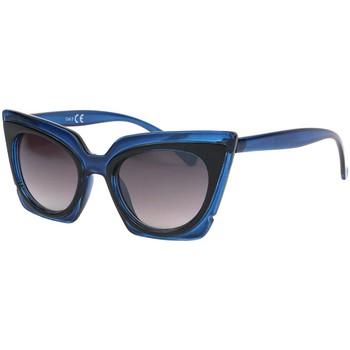Montres & Bijoux Femme Lunettes de soleil Eye Wear Lunettes de soleil Papillon Bleu Feline Bleu
