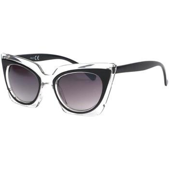 Montres & Bijoux Femme Lunettes de soleil Eye Wear Lunettes de soleil Papillon Noir Feline Noir