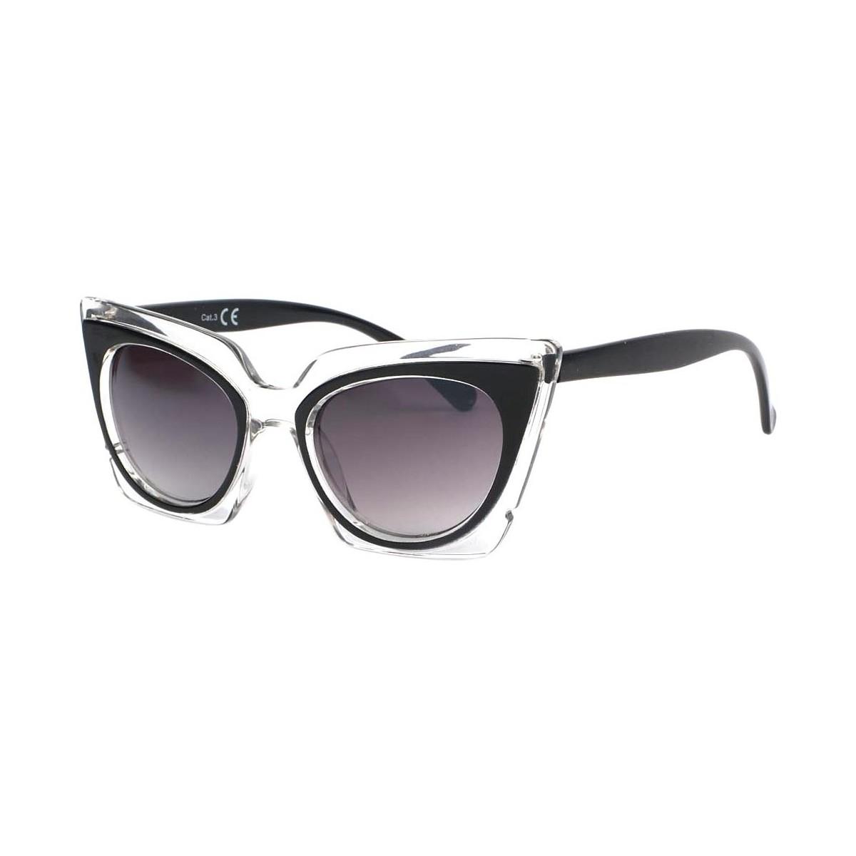 Eye Wear Lunettes de soleil Papillon Noir Feline Noir