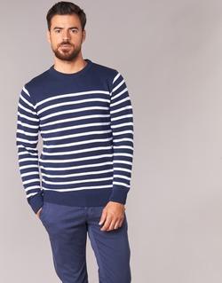 Vêtements Homme Pulls Casual Attitude FARCIELLE Marine / Blanc