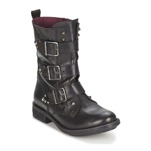 Bottines / Boots Ikks RANGER-COLLECTOR-BOUCLE Noir 350x350