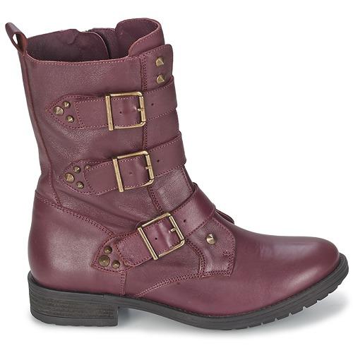 Femme Ranger Ikks boucle Chaussures Boots collector Bordeaux MVjLqpSGUz
