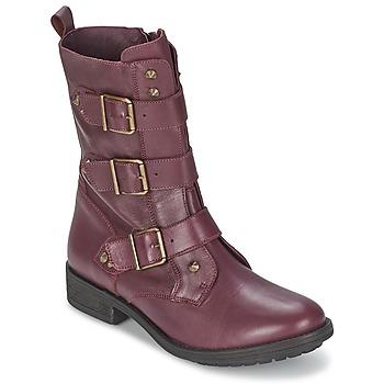 Bottines / Boots Ikks RANGER-COLLECTOR-BOUCLE Bordeaux 350x350