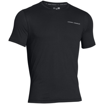 Vêtements Homme T-shirts manches courtes Under Armour Charged cotton microthread ss Black / Steel
