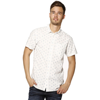 Chemise Jack jones chemise homme - cactus shirt s/s cloud - dancer/slim fit 121050