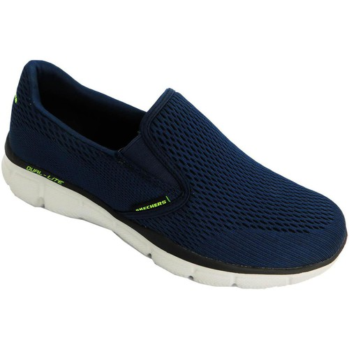 Chaussures Homme Slip ons Skechers Double Play Bleu