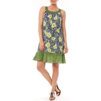 Vêtements Femme Robes courtes By La Vitrine Robe Dublin imprimée Géometrique Vert
