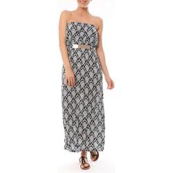 Vêtements Femme Robes longues Dress Code Robe Longue Bleu imprimée fleurs Bleu