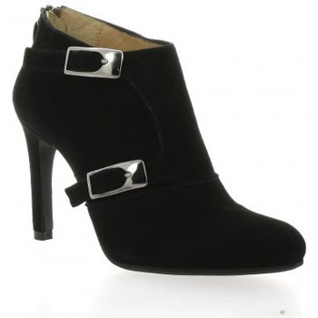 Chaussures Femme Low boots Vidi Studio Boots cuir velours Noir