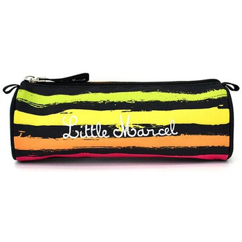 Sacs Fille Trousses Little Marcel Trousse scolaire  Noir REFLEX PAINT Multicolores REFLEX PAINT Noir